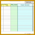 Irs Mileage Log Template Excel 8 Plus Mileage Log Templates To Keep Your Mileage Track 139139
