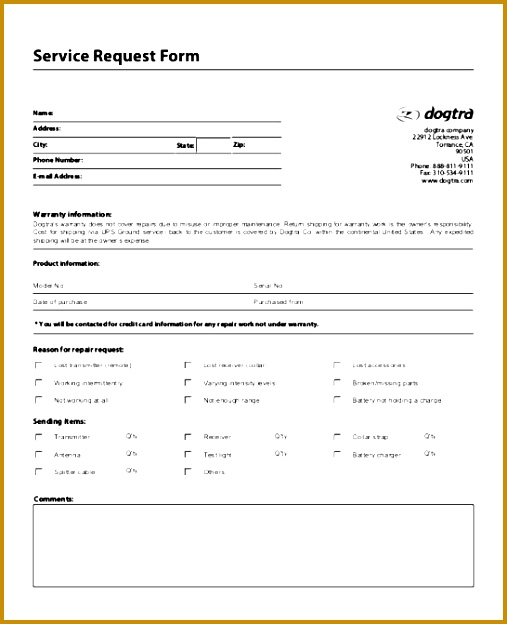 Acknowledgement Of Service Form | It Service Request Form Template 49584 Acknowledgement Of Service