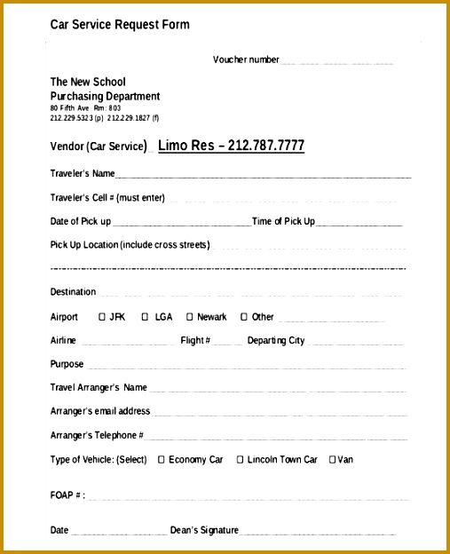 service call form templates