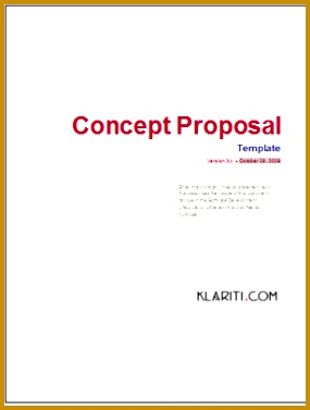 Concept Proposal Template Download Now 377285