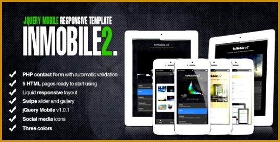 InMobile 2 jQuery Mobile Tablet HTML5 548279