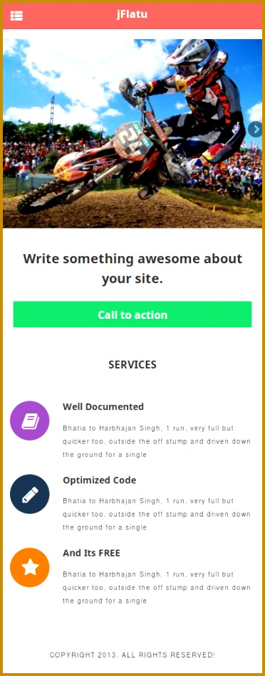 jQuery Mobile Free Template 950372