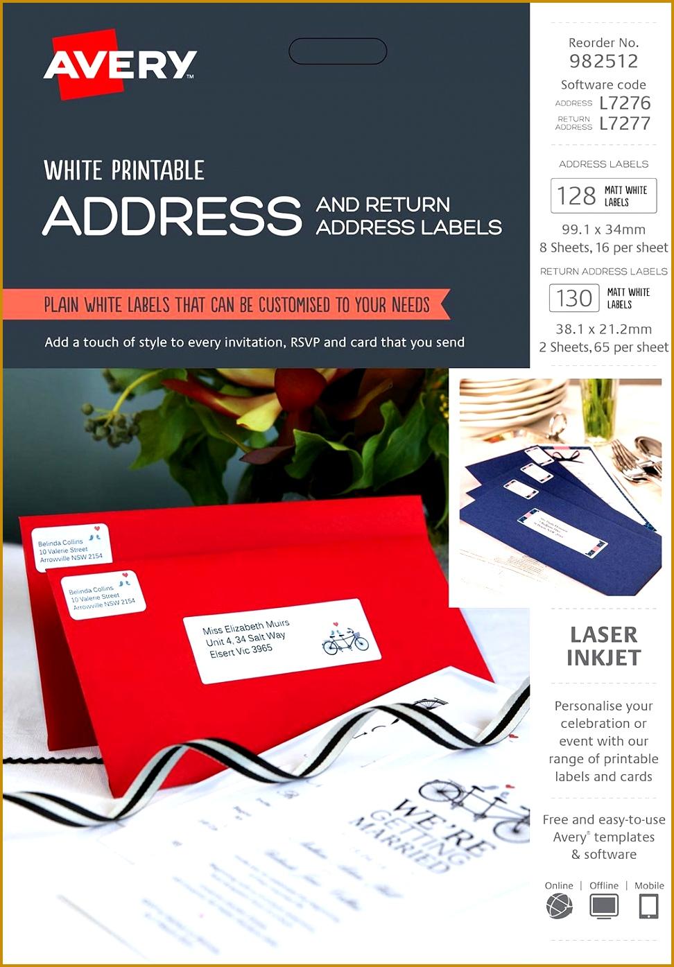 Address Labels Kit 99 1 x 34 mm and 38 1 x 21 2 mm Laser Inkjet 9721395