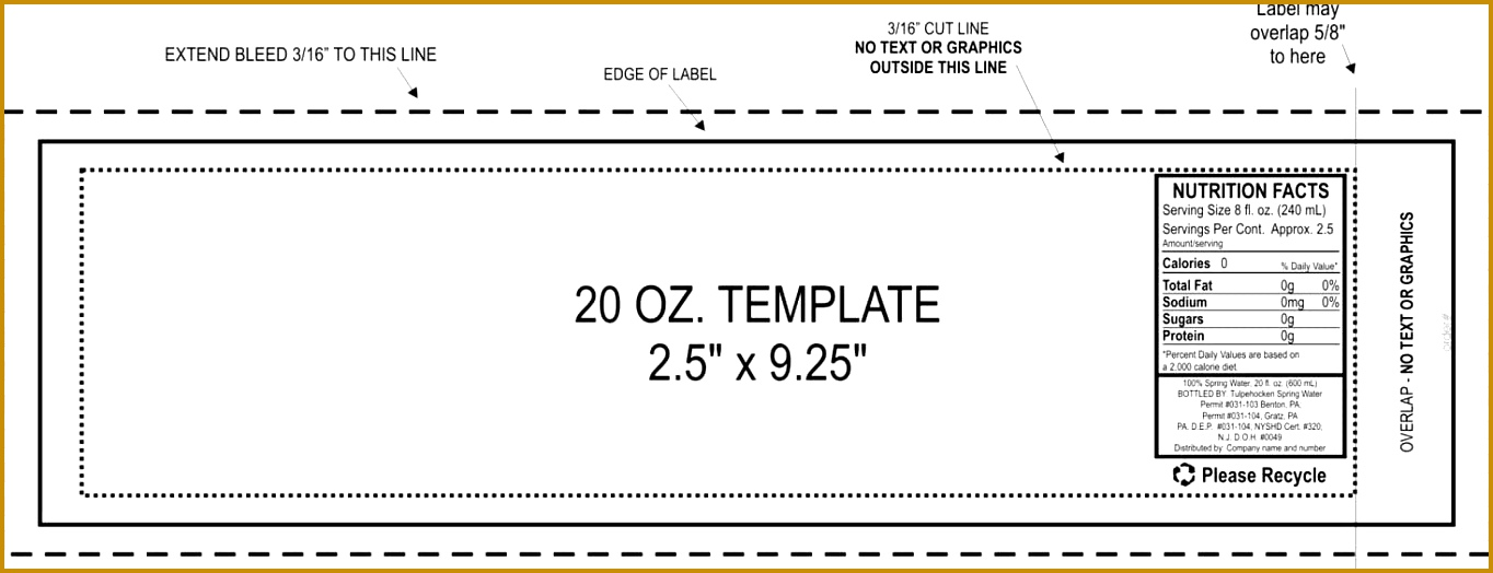 Image for 2 X 4 Label Template 10 Per Sheet 5241364