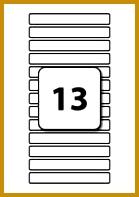 13 Labels per Sheet 122 mm x 16 mm 197139