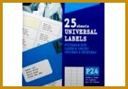 Ryman Address Labels P24 Universal 64X34Mm 24 Per A4 Sheet 25 throughout 24 Labels Per Sheet · Free Templates 186130