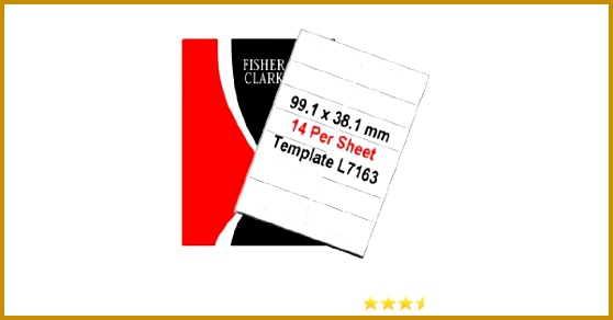 Fisher Clark Address Labels 100 White A4 sheets 14 labels per sheet Amazon fice Products 292558