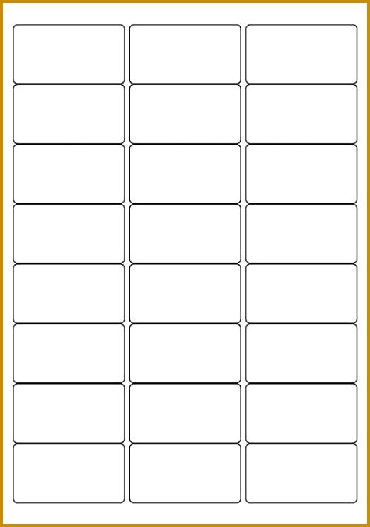 White A4 Labels 24 Per Sheet 500 Sheets Per Box 744523