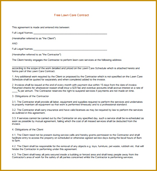 how to get commercial lawn care contracts