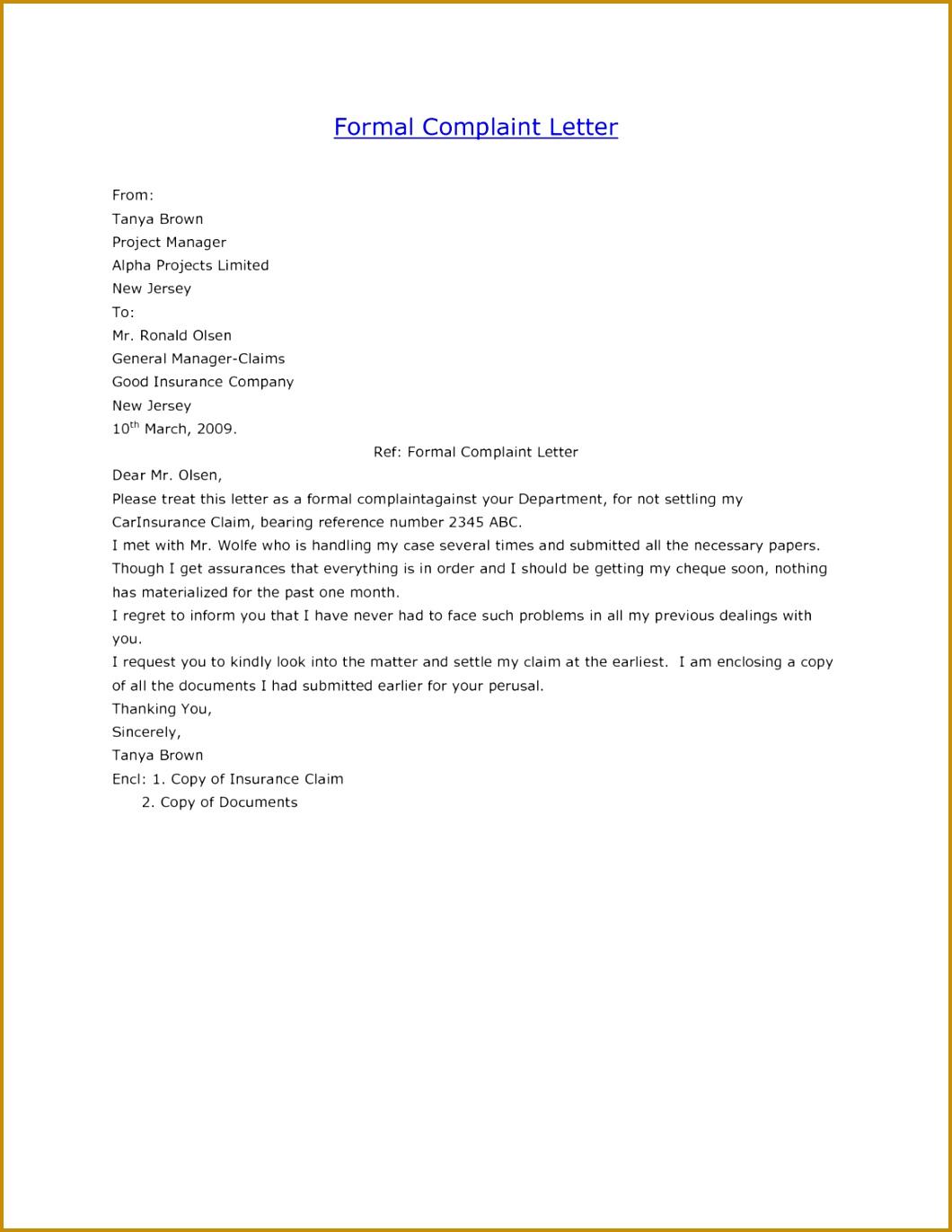 plaint Letter Service Business Letters Service Sample plaint Formal plaint Letter Template plaint Letter Service 13711060