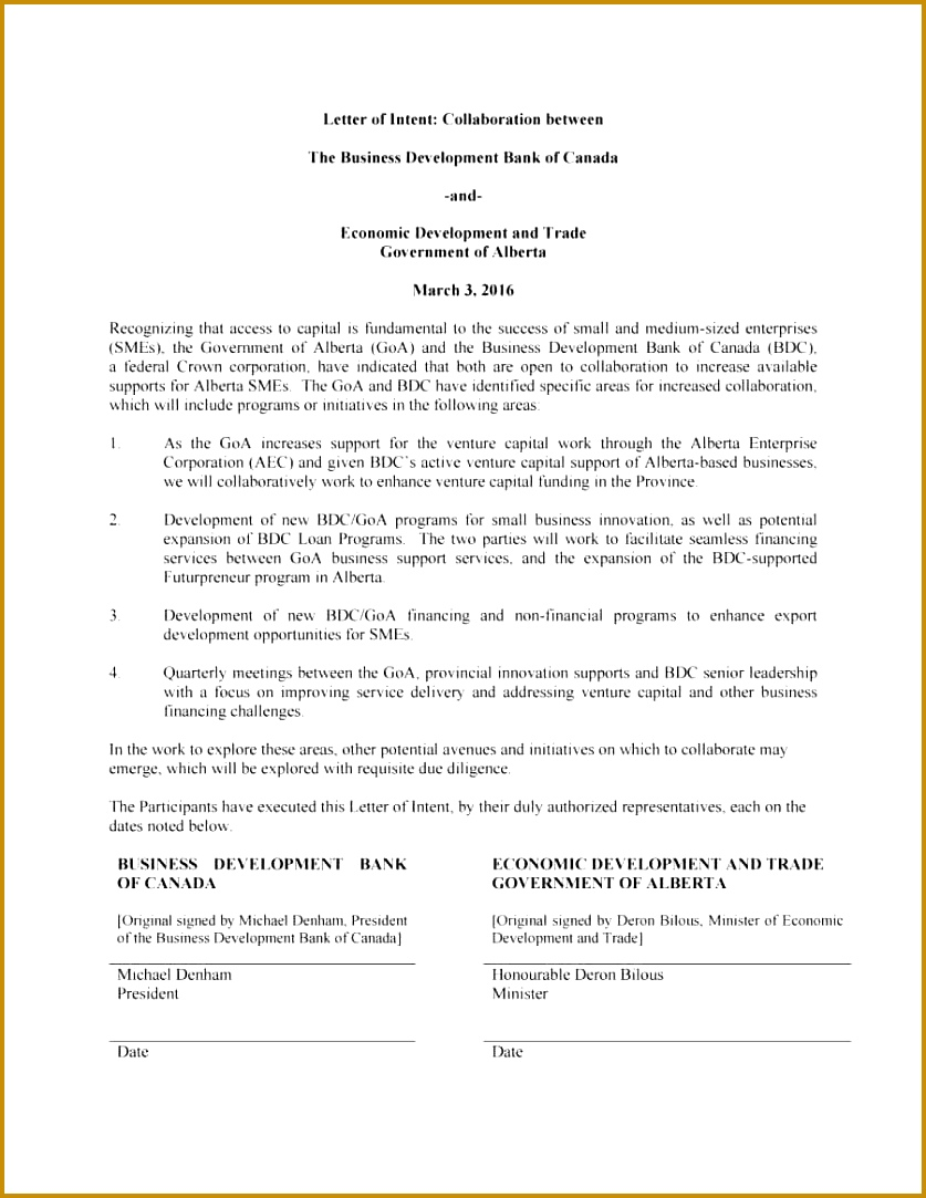 40 Letter Intent Templates Sles For Job Business 1083837