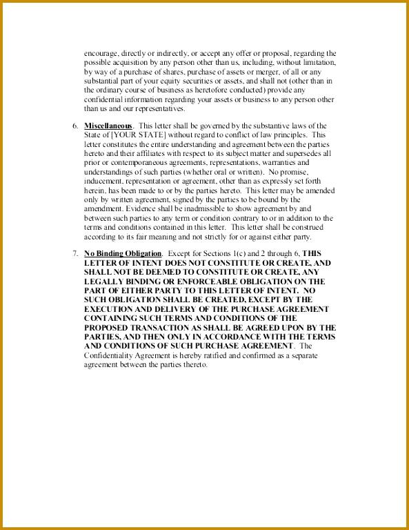 Sample Letter Intent 768593