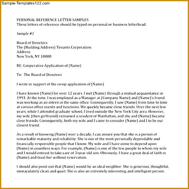 Sample Personal Reference Letter For A Friend Re mendation 71 personal re mendation letters 636636