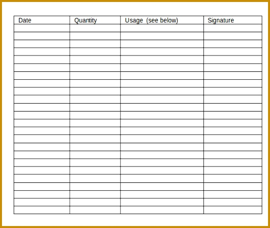 4 Liquor Inventory Sheet | FabTemplatez