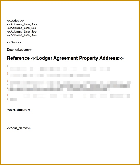 Terminate a Lodger Agreement No Fault Nor Breach 558473