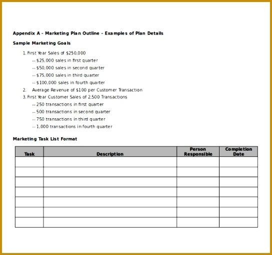 Microsoft Word Marketing Plan Template 511544