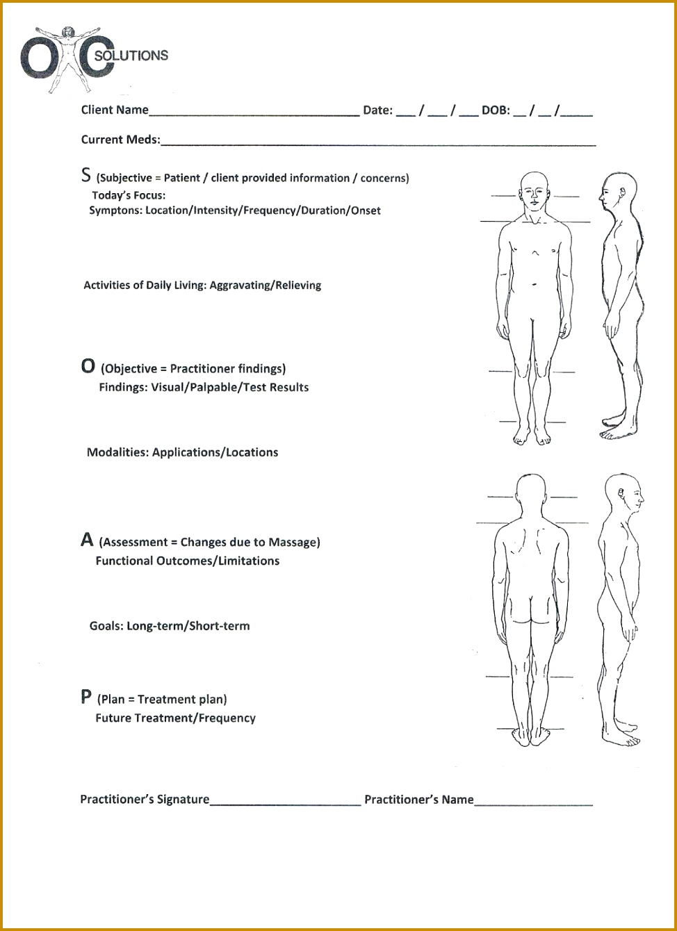 Free Massage Client Intake Form Template Google Search Therapy Soap Chart Treatment Protocols For Massage Pinterest 1340974