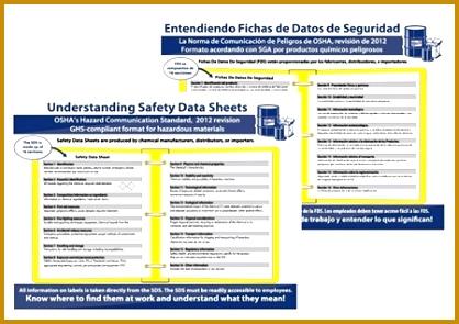 Safety Data Sheet SDS Training Poster English or Spanish 24 X 18 418295