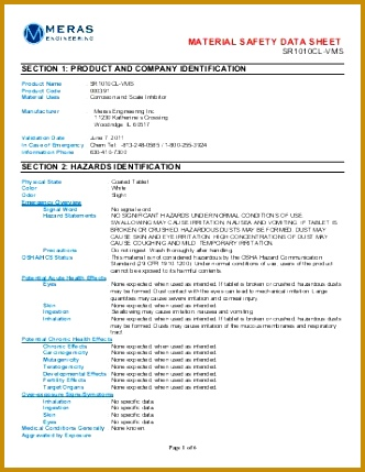 material safety data sheet Varian 429332