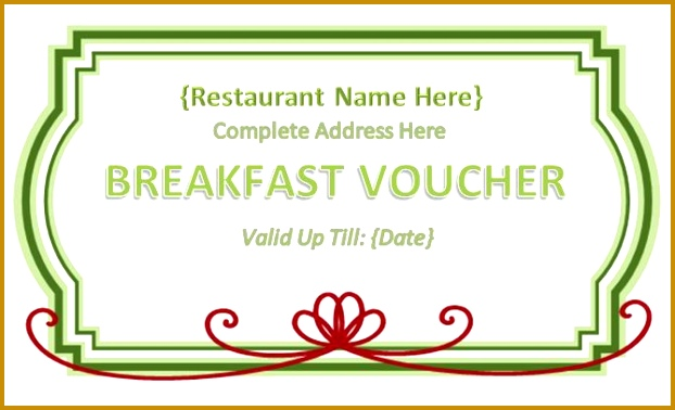Meal Ticket Voucher Template 622378