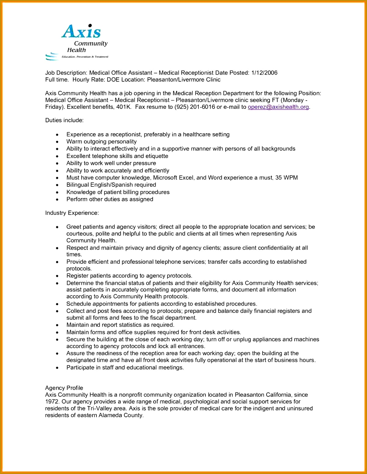 Medical Office Manager Job Description Medical Fice Assistant Job  Description Resume For Medical Fice Assistant Resume