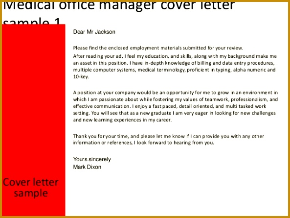 ... Medical Billing Manager Job Description 92336 Medical Office Manager  Cover Letter ...