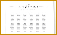 Wedding Seating Chart Table Plan Instant Download for Wedding Seating Chart Poster Template 139227