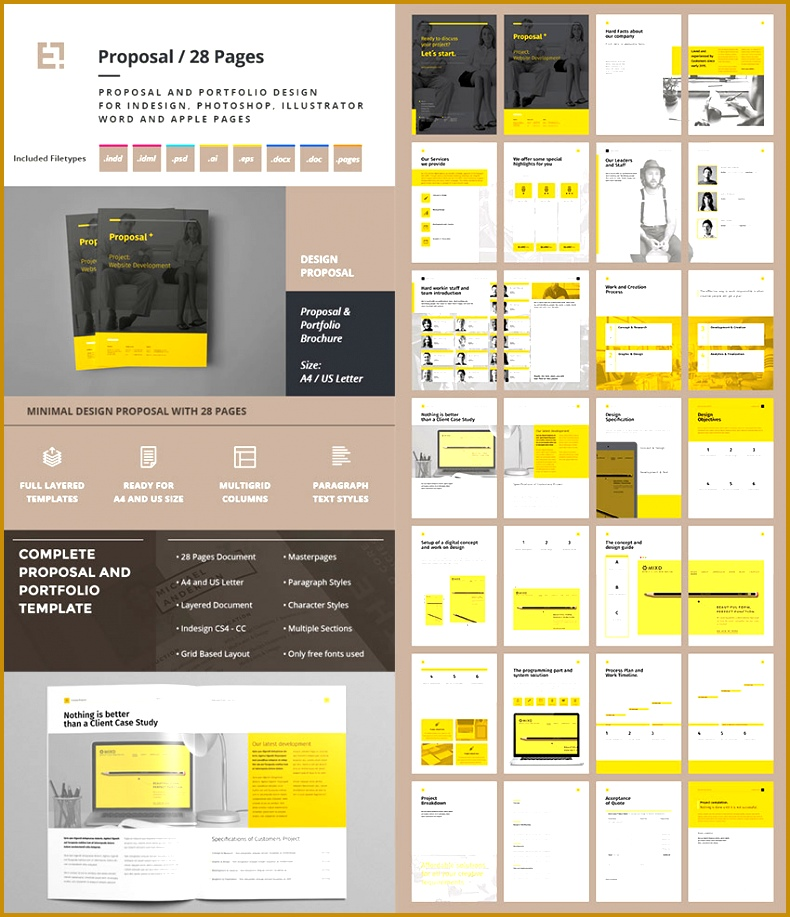 Creative Project Proposal Template Set 917790