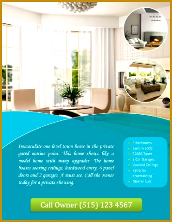 Call owner Real Estate Flyer with circles 459355