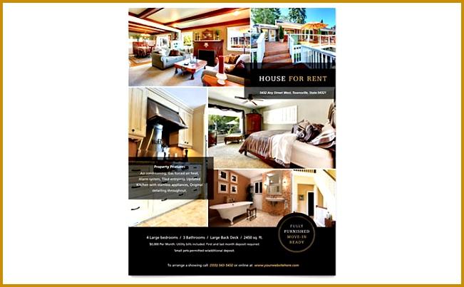 Flyer · Suburban Real Estate Flyer Template Microsoft fice 651403