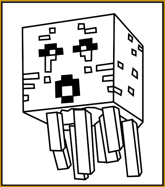 Printable Minecraft Ghast coloring page 611540