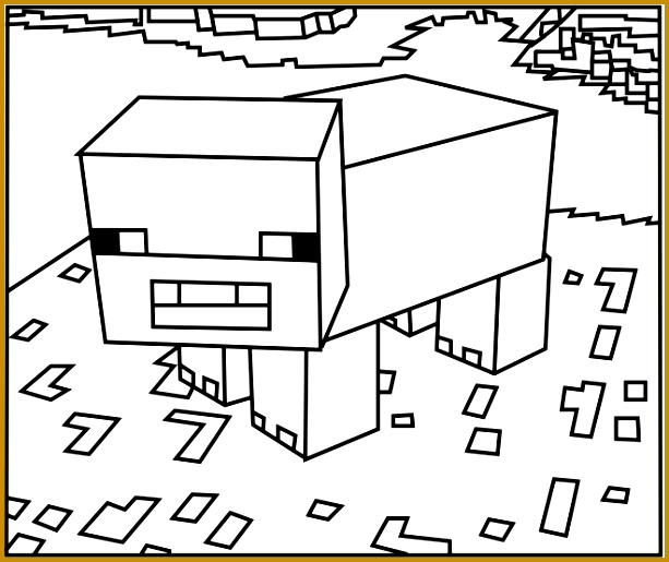 Download Printable Minecraft Pig coloring pages 515613
