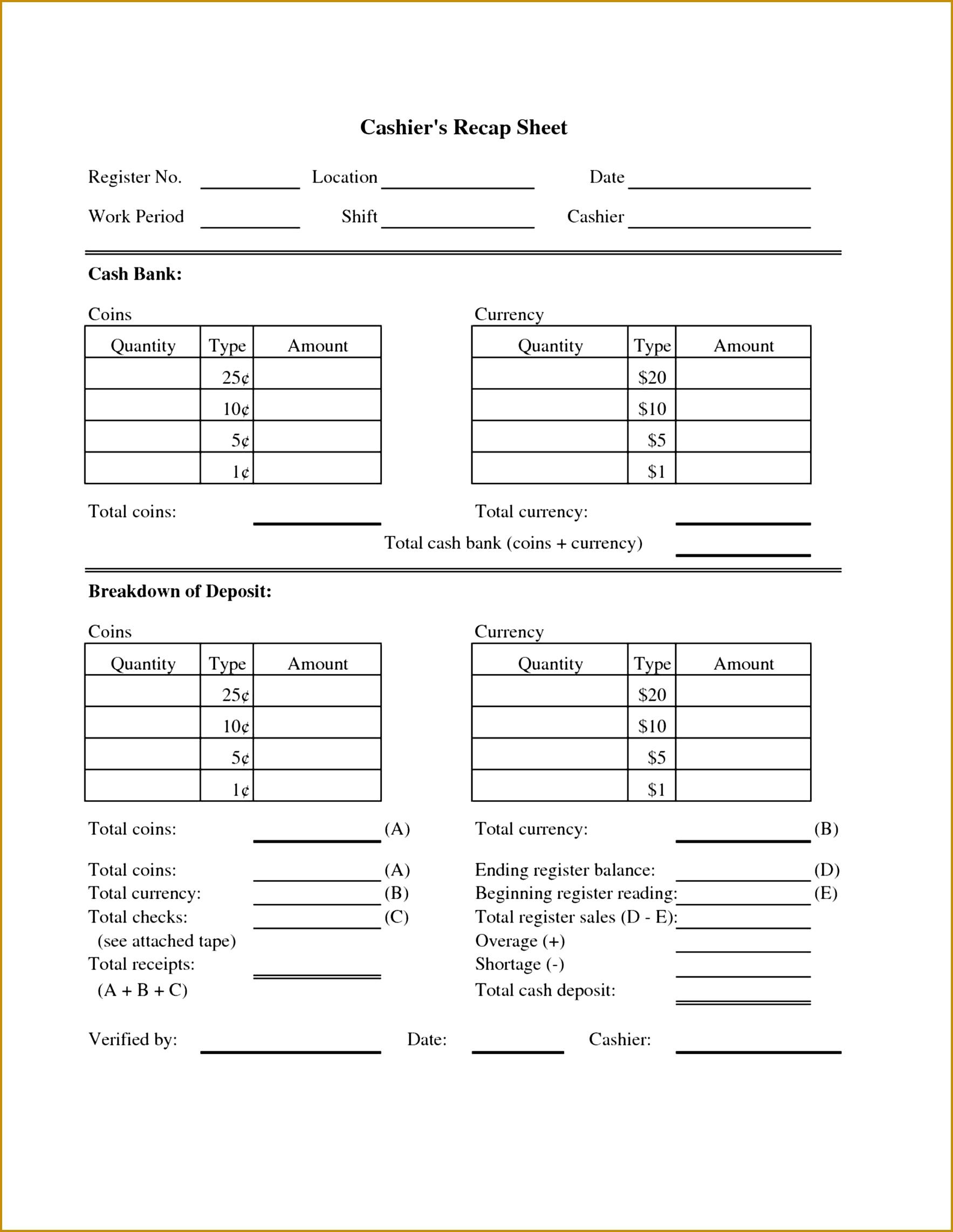 4 money count sheet template fabtemplatez. Black Bedroom Furniture Sets. Home Design Ideas