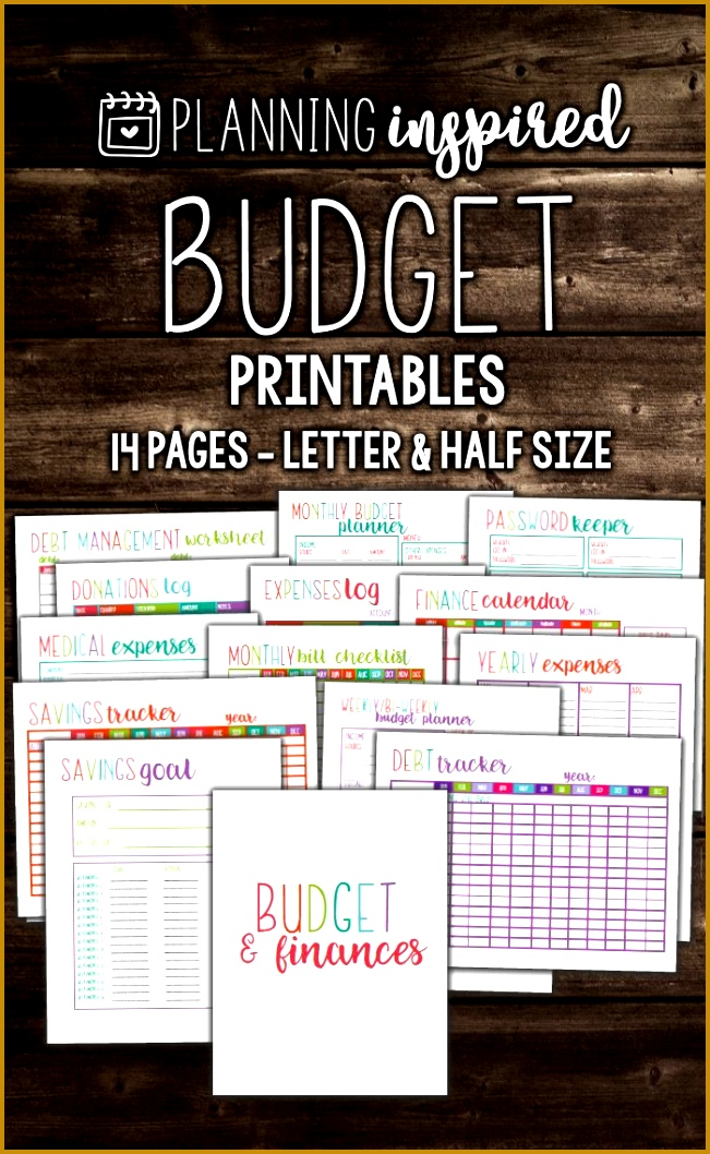 Free Printable 2017 Planner Inserts Monthly Bud 1058651