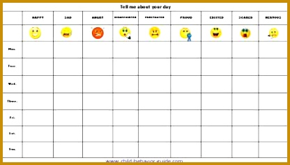 Mood Log Template 02458 Feelings Chart Printable Behavior Charts