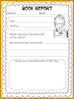 Book Report Templates for Kinder and First Graders 244325