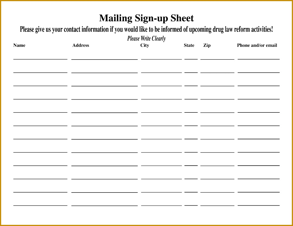 Email Sign Up Sheet Template Name And Email Sign Up Sheet Oloschurchtp 11