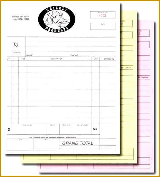 Carbonless Form Printing 594539