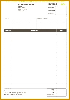 FREE invoice template for NCR printing as invoice books or invoice pads 232329