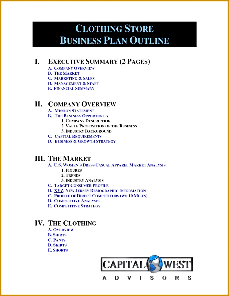 Retail Business Plan Template Templates New Plans Ppt Clothing Line Free Stv 1257974
