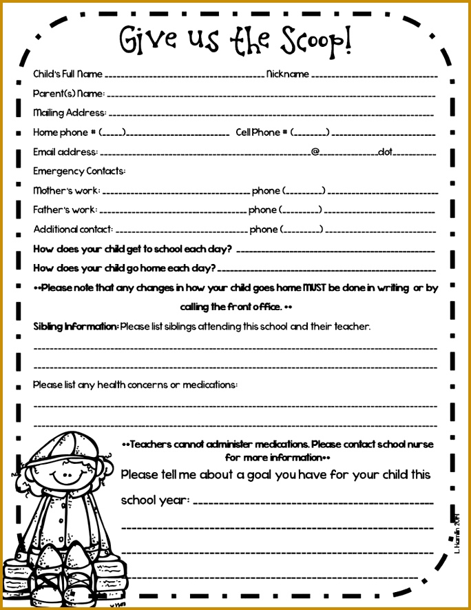 Student Contact Form Template Then 11 Emergency Forms Pdf Doc