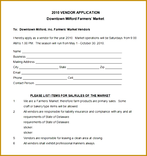 New Vendor Form Template  Fabtemplatez