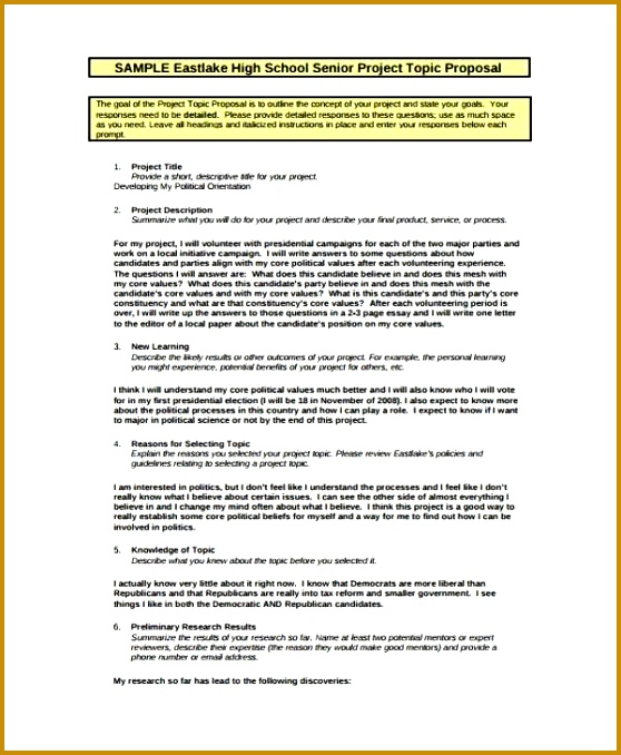 9 School Project Proposal Templates Free Sample Example Format 678558
