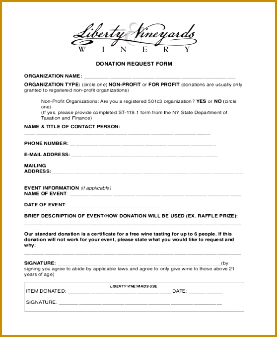 Sample Donation Request Form Donation Form Template Service 558678