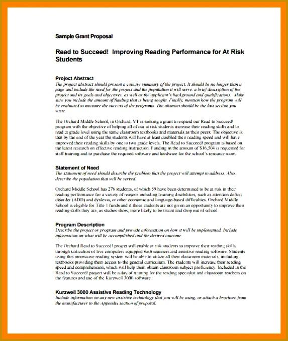 Grant Proposal Template 8 Grant Proposal Template Sample 680573