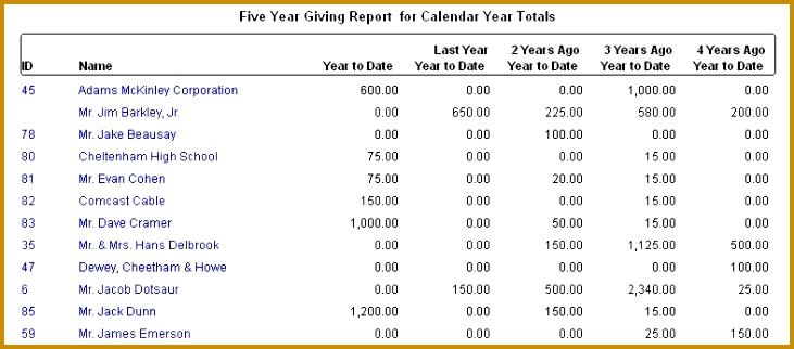 Grant Reporting Template non profit software donorperfect non 322731