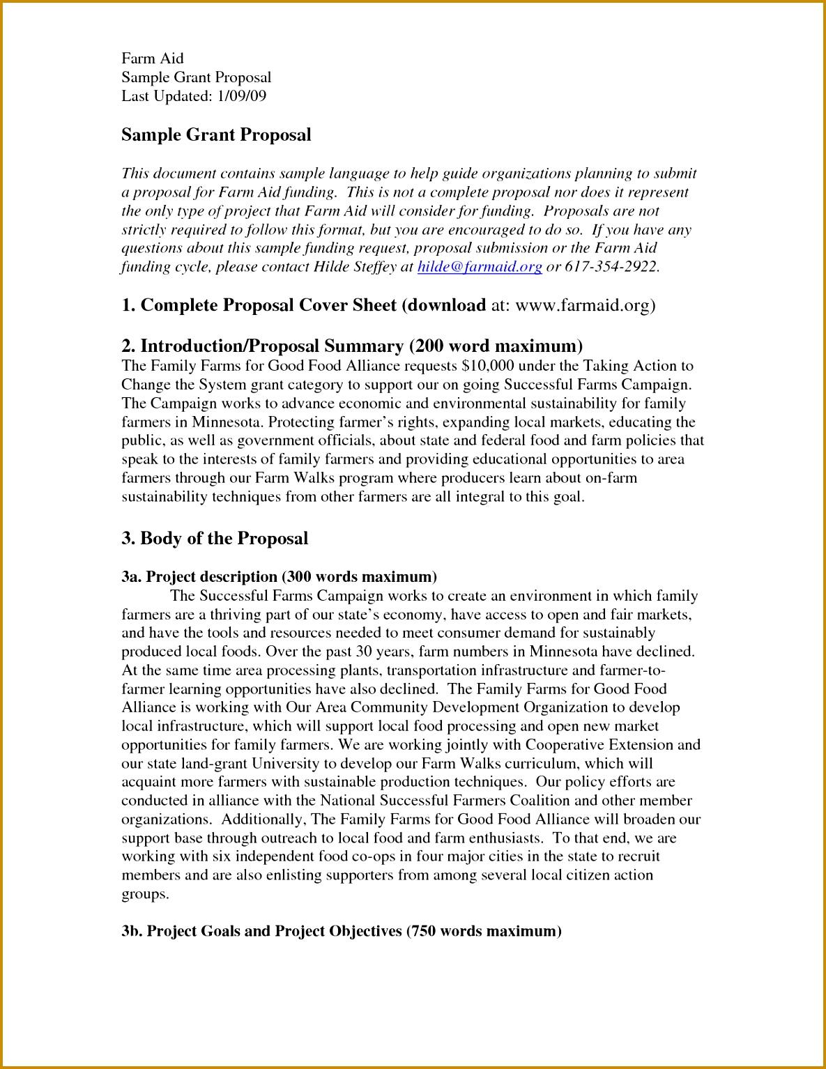 Proposal Non Profit Project Proposal Template Ideas 15341185