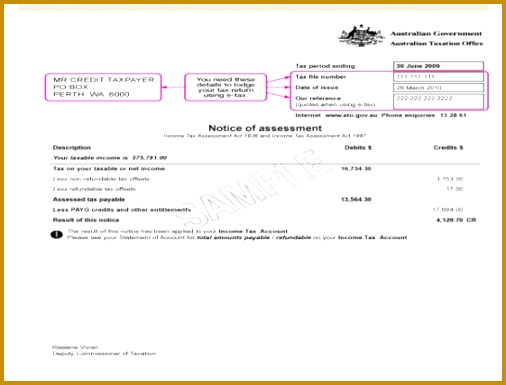 Sample notice of assessment pre 2010 385506