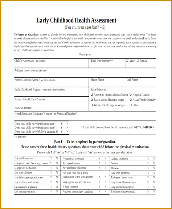 Early Childhood Health Assessment 678558