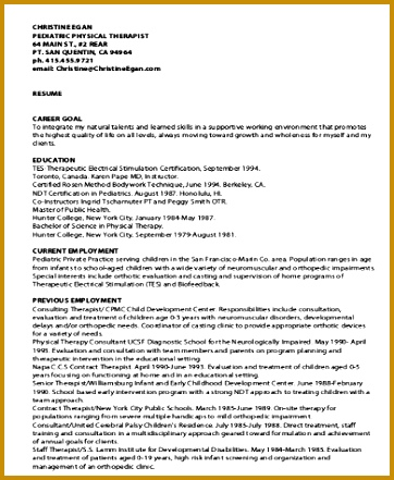Sample Physical Therapist Resume 8 Examples In Word Pdf 441362